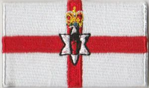 Northern Ireland Embroidered Flag Patch, style 04